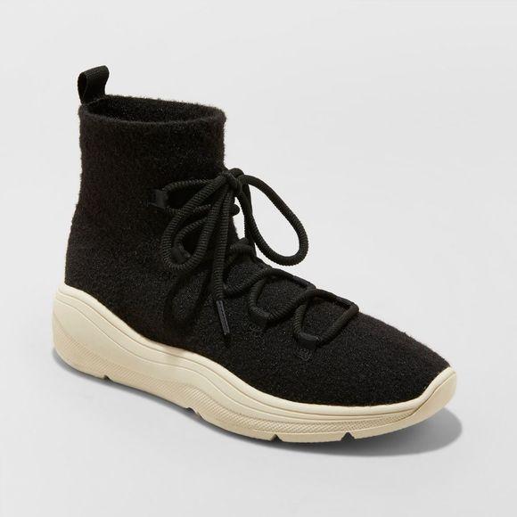 Kamari Black Sneaker Boots New